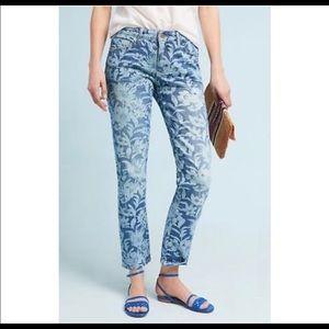 Anthropologie Pilcro Floral Print Jeans Size 30